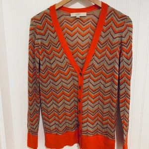 Loft Ann Taylor herringbone cardigan Sweater M
